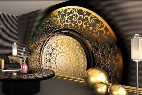 دکوراسیون مدرن و کاغذ دیواری سه بعدی